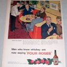 1954 Four Roses Whiskey Color Bar Art Color Print Ad