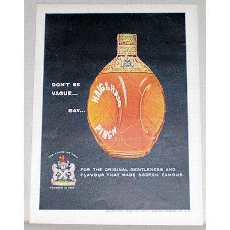 1954 Haig & Haig Pinch Scotch Color Print Ad - Don't Be Vague