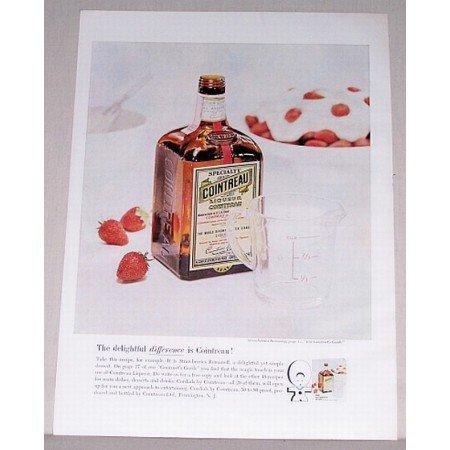 1962 Cointreau Specialty Liqueur Color Print Ad