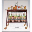 1961 Holland House Cocktail Mix Color Print Ad