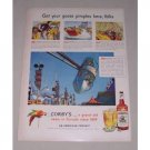 1949 Corby's Blended Whiskey Rockaway Playland Park New York NY Color Print Ad