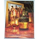 1979 Courvoisier Cognac Brandy Napoleon Color Print Ad