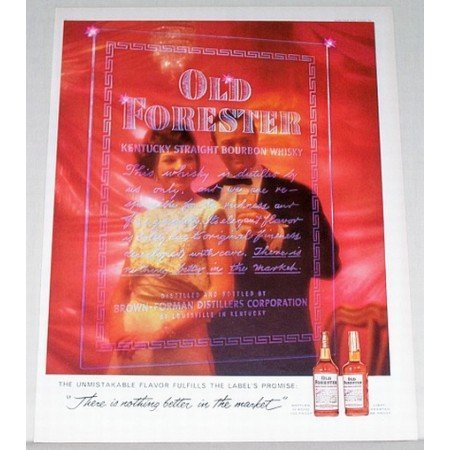 1961 Old Forester Bourbon Whiskey Color Print Ad