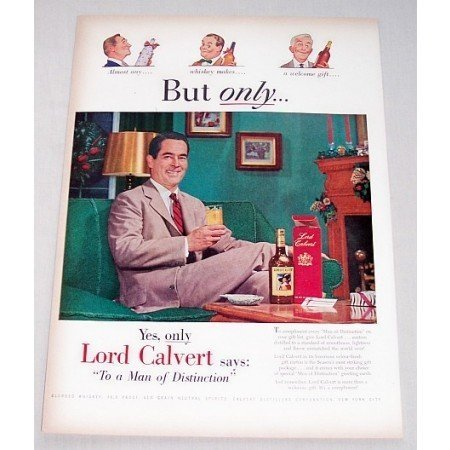1948 Lord Calvert Whiskey Color Print Ad - Man Of Distinction