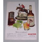 1949 Hunter Blended Whiskey Horse Equestrian Art Color Print Ad - Modern or Traditional?
