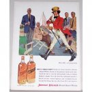 1956 Johnnie Walker Whiskey Color Art Print Ad - Still Goin Strong