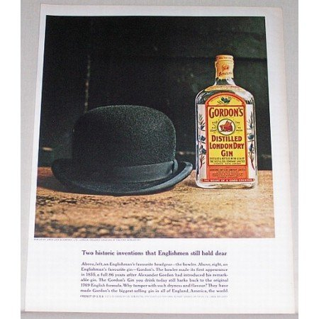 1962 Gordon's Dry Gin Color Print Ad