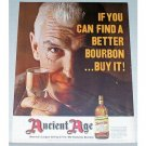 1962 Ancient Age Bourbon Whiskey Color Print Ad