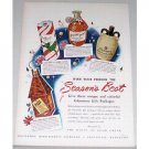 1948 Glenmore Whiskey Gift Packages Color Print Ad
