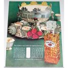 1962 Four Roses Whiskey Silverplate Punchbowl Color Print Ad