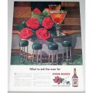1948 Four Roses Whiskey Color Print Ad - What To Ask A Man