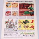 1952 Western Auto Stores Vintage Business Products Color Print Ad