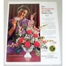 1961 FTD Florist Color Print Ad - Flowers By Wire Mother