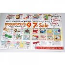 1956 F.W. Woolworth Co. 2 Page Color Print Ad