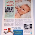 1954 Gerber's Baby Food Vintage Color Print Ad