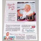 1953 Gerber's Baby Foods Color Print Ad - Recipe For Growing Up