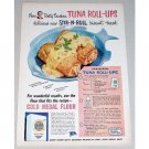 1952 Gold Medal Flour Tuna Roll-Ups Recipe Color Print Ad