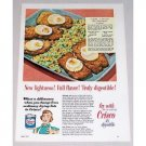 1952 Crisco Shortening Veal Continental Recipe Color Print Ad