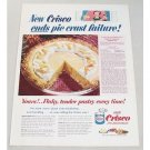 1953 Crisco Shortening Pineapple Chiffon Pie Recipe Color Print Ad