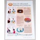 1934 Crisco Shortening Color Print Ad - Ready Creamed