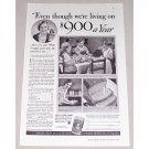 1934 Royal Baking Powder Print Ad - $900 Dollars A Year