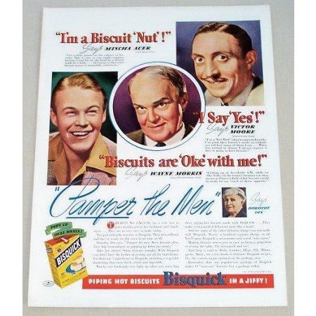 1939 Bisquick Mix Color Print Ad - Pamper The Men