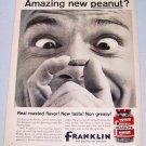 1961 Franklin Dry Roasted Peanuts Food Print Ad