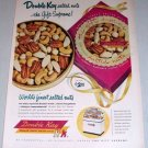 1954 Double Kay Salted Nuts Gift Supreme Color Print Ad