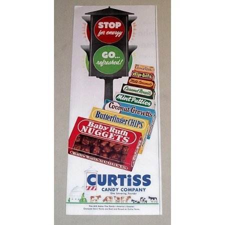1954 Curtiss Candy Company Color Print Ad - Stop For Energy