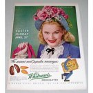 1946 Whitman's Chocolates Color Print Ad - Popular Messenger