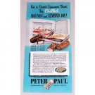 1952 Peter Paul Mounds Almond Joy Candy Bar Color Print Ad