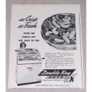 1946 Double Kay Nuts Print Ad - So Crisp So Fresh