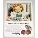 1948 Milky Way Candy Bar Color Art Print Ad - Have A Chilled Milky Way!