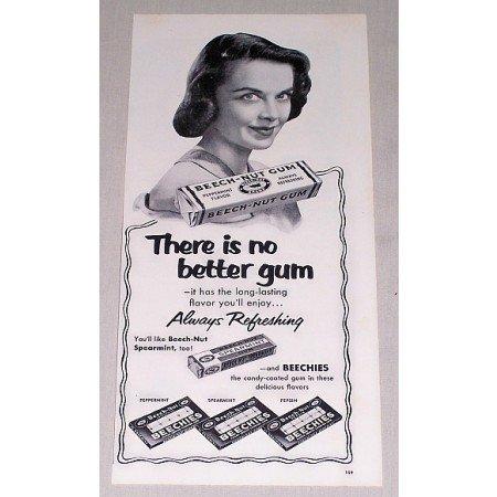 1952 Beech Nut Chewing Gum Print Ad - Always Refreshing