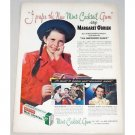 1947 Warrens Mint Gum Color Print Ad Celebrity Margaret O'Brien