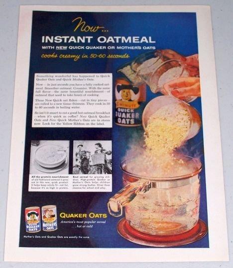 1955 Quaker Oats Color Food Print Ad