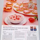 1958 Quaker Mother's Oats Valantine's Candy Color Print Ad