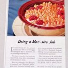 1945 Kellogg's Rice Krispies Color Print Ad - Doing A Mans Size Job