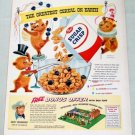 1955 Sugar Crisp Cereal ROY ROGERS RANCH SET OFFER Color Print Ad