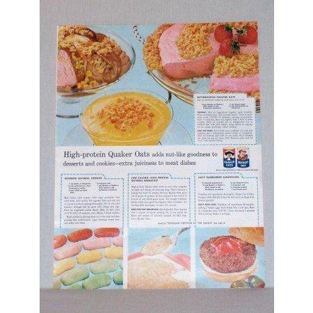 1957 Quaker Mother's Oats Color Print Ad - Desserts Cookies