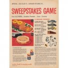 1958 Quaker Mother's Oats Sweepstakes Game Color Print Ad