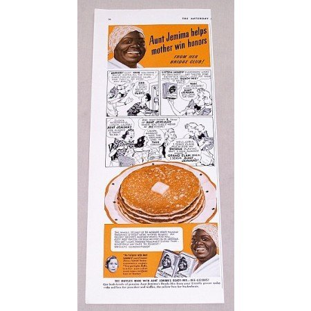 1940 Aunt Jemima Pancakes Color Print Ad - Mother Wins Honors