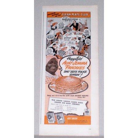 1944 Aunt Jemima Pancakes Color Print Ad - Clean Plate Club