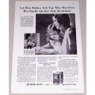 1931 Quick Quaker Oats Print Ad - Let This Mother Tell...