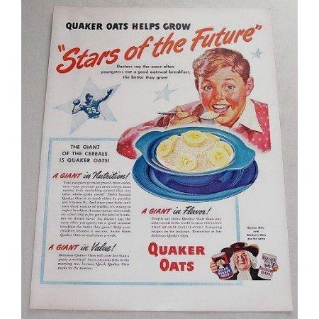 1948 Quaker Oats Color Art Print Ad - Stars Of The Future