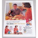 1960 Aunt Jemima Pancake Mix Color Print Ad - Chuck and Peggy
