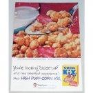 1955 General Mills Corn Kix Cereal Color Print Ad - Close Up