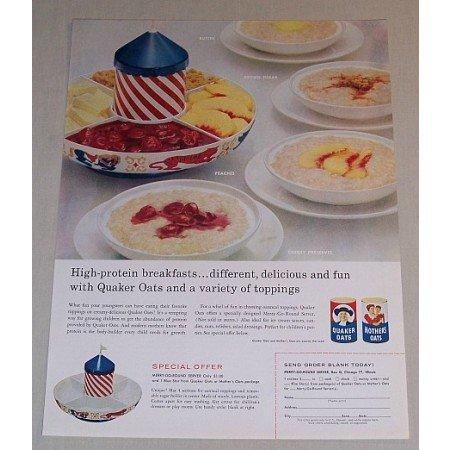 1958 Quaker Oats Merry Go Round Server Offer Color Print Ad