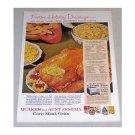 1960 Quaker Aunt Jemima Corn Meal Grits Dressing Recipe Color Print Ad