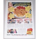 1941 Post Toasties Corn Flakes Cereal Color Print Ad - 4-Star Treat